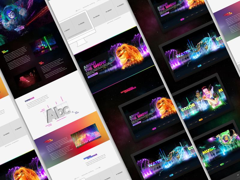 Disney - World of Color flash ux ui website color world disney