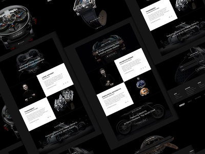 MB&F uidesign ui product page scroll website web