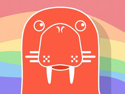 Pride 2020 (Walrus logo) walrus waves logo design graphic design pastel colour flag illustration lgbtq lgbt pridemonth pride