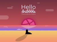 Dribbble Debut - February 2018