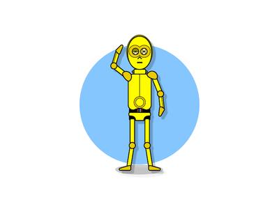 C3PO android design robot illustration c3po star wars