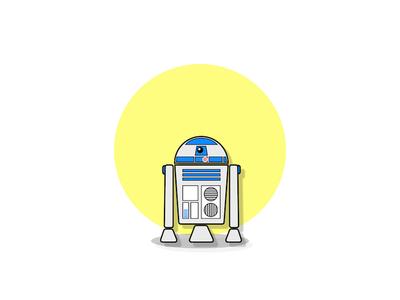 R2D2 android design robot illustration r2d2 star wars
