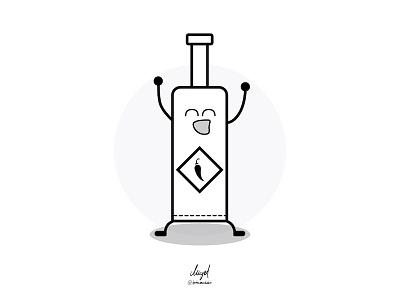 Tabasco & Milk - Tabasco sketch vector friendship bottle milk tabasco doodle illustration