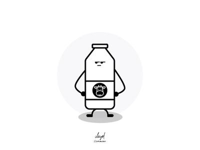 Tabasco & Milk - Milk sketch vector friendship bottle milk tabasco doodle illustration