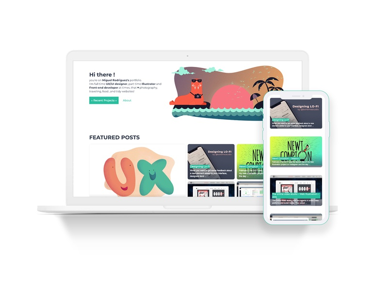 bohemestudio.com 4.6 portfolio blog responsive iphone macbook ux design illustration ux webdesign web