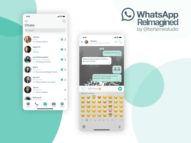 Whatsapp Reimagined messenger app messenger message app messages chat graphic design game of thrones ui ux design mobile ios redesign app whatsapp