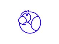 Messaging Parrot Logo - Blue