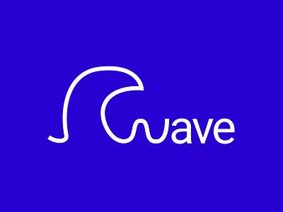Wave logo - Negative wave brand identity identity branding logodesign design brand logo