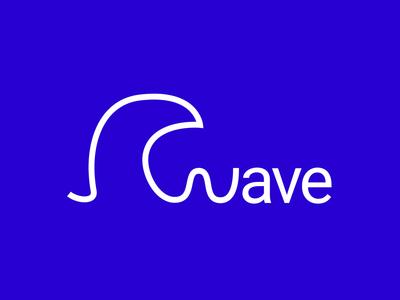 Wave logo - Negative