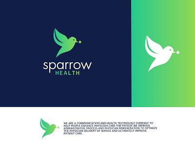 Sparrow health logo. medical health logo health tech logo health logo medical logo logo design logo professional logo graphic design
