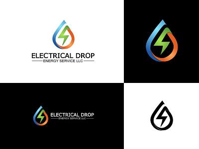 Electrical Drop logo energy logo electrical drop logo drop logo electrical logo electric logo electricity logo logo  branding branding professional logo logo design logo graphic design