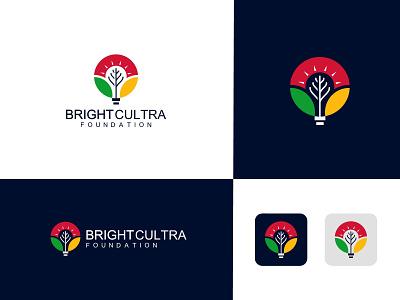 Cultra foundation logo design bright logo bright foundation logo cultra logo cultra design leaf logo bulb logo bulb design branding logo  branding professional logo logo design logo graphic design