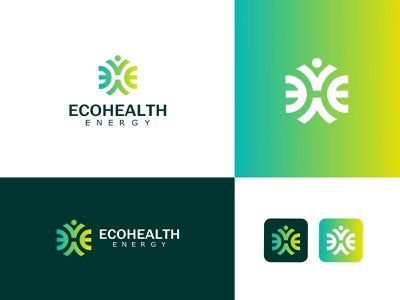 Eco health logo eh letter logo eh logo health logo logo  branding logo type logos logo designs medical logo logo artist logo art logo graphic design