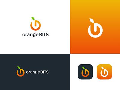 Orange Bits logo orange logo design orange logo logo artist logo designer logo designs logos logo art medical logo logo  branding branding professional logo logo design logo graphic design
