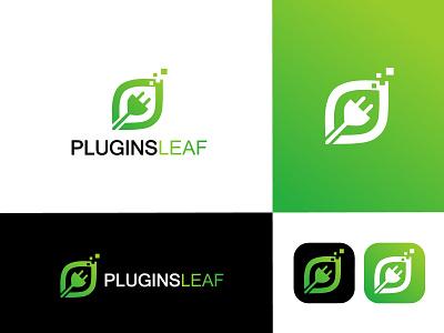 Plugins leaf logo leaf logo plugins logo logo artist logo designer logos logo art logo  branding branding professional logo logo design logo graphic design