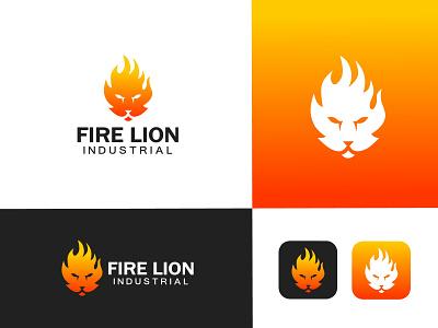 Fire+Lion logo industrial logo lion logo fire logo logo inspiration logo maker logo designer logo artist logo art logos logo  branding branding professional logo logo logo design graphic design design