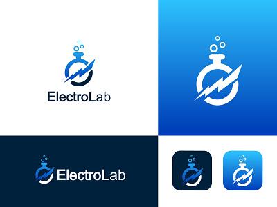 Electro Lab logo electric logo lab logo logos logo  branding branding logo art logo graphic design professional logo logo design