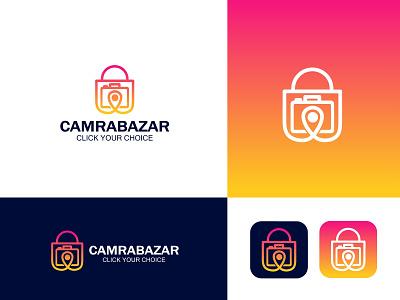 Camra bazar logo design shop logo camra shop logo camra logo illustration design logo art logo  branding branding professional logo logo design graphic design