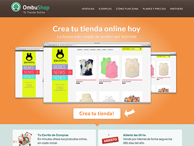 Testing options for a possible new OmbuShop homepage web design css ecommerce ombushop