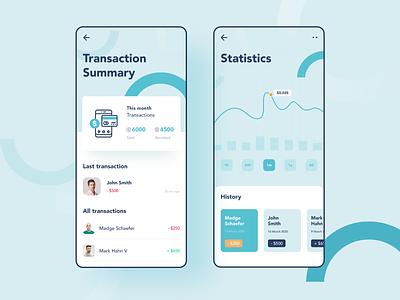 Digital Wallet Concept wallet app manager money summary report statistics transaction bank app wallet bank ios concept design ux app minimal ui