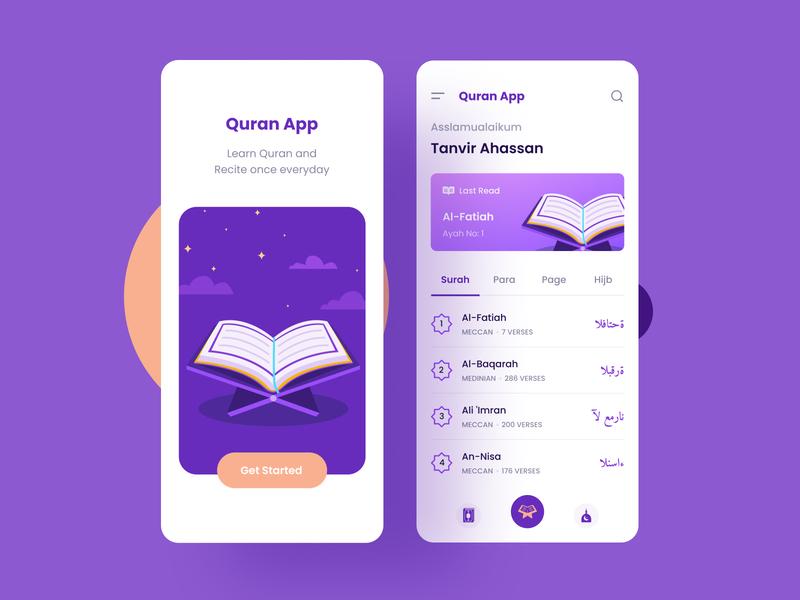 Quran App Concept quran ios uxdesign subtle idea ui design muslim mosque colors trendy modern concept al quran islam islam app islamic app quran app uiux ui