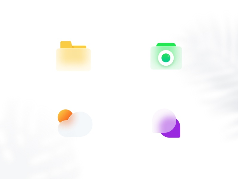 Frosted Icons Exploration (Free Download) illustraion icon set design art colorfull minimal icon design exploration concept frosty frosted glass frosted trendy modern icon iconography icon