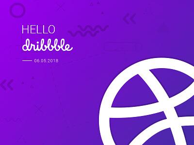 Hello Dribble debut fresh invite dribbble new