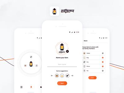 Hariken - Item Finder App idea creative concept hariken device lost item finder design branding ux app minimal ui
