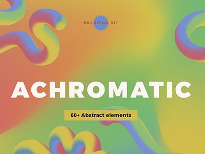 Achromatic abstract design branding kit for sale graphic design design branding kit abstract logo brand design brand identity branding concept