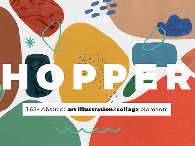 Abstract watercolor shapes cover graphic design designer design concept branding concept ready-to-use abstract design branding kit branding brand design