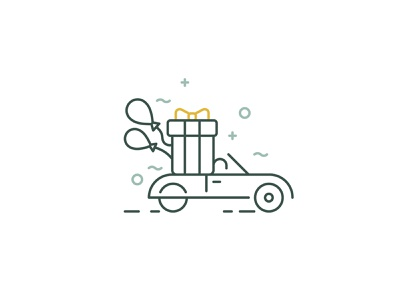 Gifts delivery icon svg icons icon design emblem giftshop sign shop gifts symbol line vector delivery service icon gift
