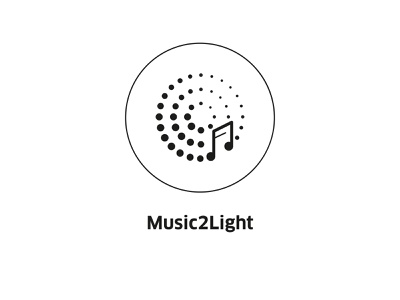 Music2Light ( vector icon ) symbol music player tech lineart illustration minimal drawing vector icons line art music app icon music