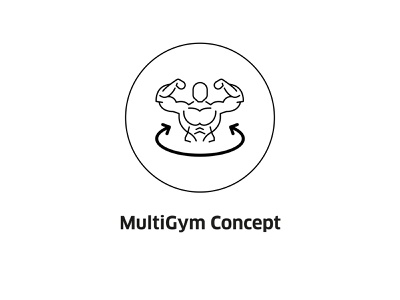 MultiGym Concept ( vector icon ) fitness club concept sign drawing symbol line art illustration fitness vector line icons gymnastics lineart icon app gym