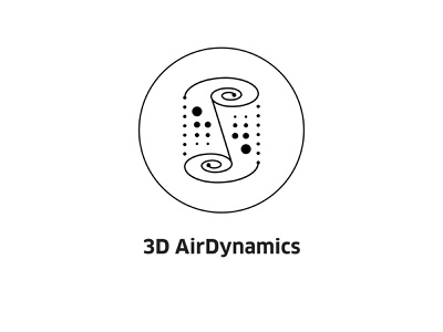 3D AirDynamics ( vector icon ) logo insignia sign engineering technology tech drawing 3d illustration lineart icons symbol line art vector dynamics icon air