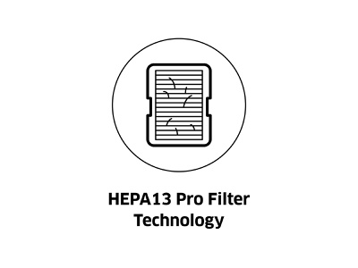 HEPA13 Pro Filter Technology ( vector icon ) black white lineart sign symbol line art icon design dust collector drawing vector filters illustration technology filter icon hepa