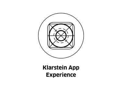 Klarstein App Experience ( vector icon ) draft app design scheme line art drawing icons engineer engineering technology symbol tech illustration vector experience app icon klarstein