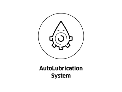 AutoLubrication System  ( vector icon ) insignia drawing design line art gear icons engineering system symbol illustration minimal vector icon lubrication auto