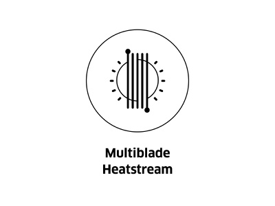 Multiblade Heatstream  ( vector icon ) sturtup tech engineering engine pictogram sun icons line illustration sunlight drawing stream heat symbol line art vector icon blade multi