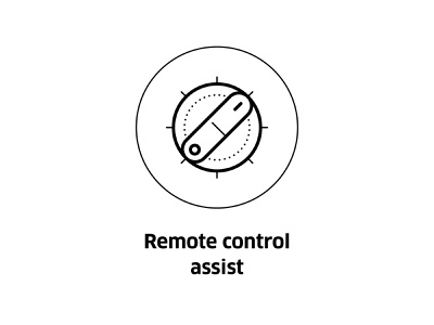 Remote control assist ( vector icon ) smart home app technology icons tech iconography line art drawing icons remote working symbol sign line illustration vector assist control remote icon lineart