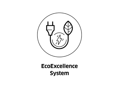 EcoExcellence System ( vector icon ) alternative energy enviroment green energy leaf logo eco logo ui sign vector line art eco friendly symbol bio illustration ecology line icon eco