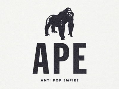 Anti pop empire logo paper