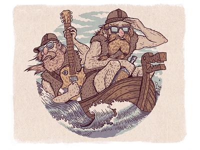 Hipster Rock Vikings illustration vikings