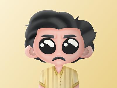 Pablo Escobar pablo escobar crypto wallet nft nft artist 3d cgaracter procreate 3d logo illustration design cryptocurrency collectible character cartoon bnb bitcoin binance