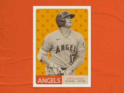 Trading Cards | Shohei Ohtani trading card japan ohtani mlb stars 70s vintage retro graphic design baseball card baseball shohei ohtani