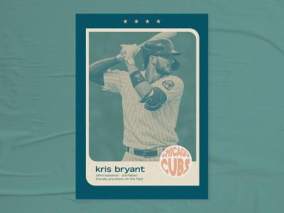 Trading Cards | Kris Bryant trading card baseball card chicago cubs kris bryant mlb baseball vintage retro graphic design design