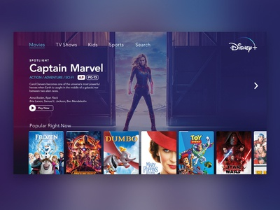 Disney+ UI
