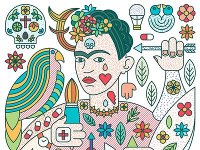 Story of Frida Kahlo & Diego Rivera - Frida ricardo workshop rivera diego kahlo frida mexican pattern palying poker