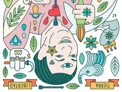 Story of Frida Kahlo & Diego Rivera - Diego mexican icons poster illustration workshop cavolo ricardo kahlo frida rivera diego