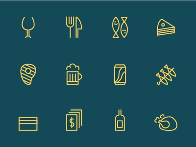 Chiringuito Los Leones Icons set drinks restaurant food icons