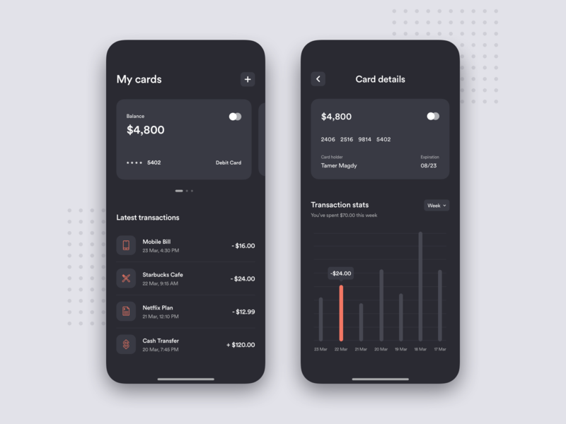 Personal Finance - App Concept